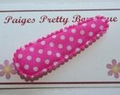 50mm Hot Pink & White Polka Dot Snap Clip-Baby Hair Clip-Toddler Hair Clip