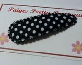 50mm Black & White Polka Dot Snap Clip-Baby Hair Clip-Toddler Hair Clip