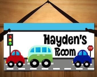 Beep Beep Vehicle - Boys Bedroom Baby Nursery Kids Bedroom DOOR SIGN Wall Art DS0167