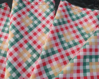 Cloth Napkins - Napkins Cloth - Dinner Napkins - Fabric Napkins - Gingham Napkins
