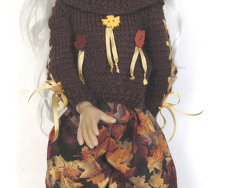 Autumn Addict Outfit for Kaye Wiggs MSD Layla BJD Doll