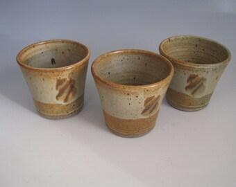 Three popover cups