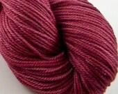 Silk and Wool DK Yarn - Pomegranate