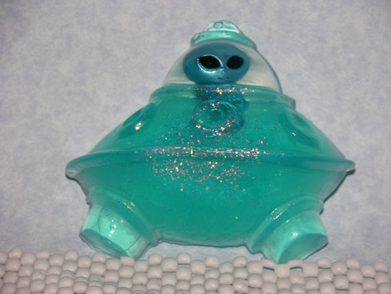ALIEN & SPACE SHIP SPaCESHIP Soap - Area 51 Space Invaders - Hand Made - Party Favor - Kids - Children - Kids Children's Gift Soap