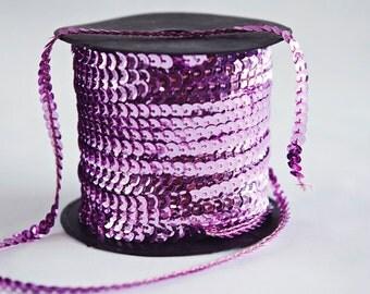 10 yards, Pink Lavender Sequin Trim