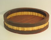 Basket Shallow Oval with Woven Look Handmade