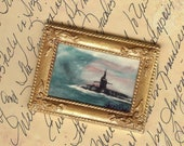 Freedom Calls  Miniature  U S Military Submarine Art Print