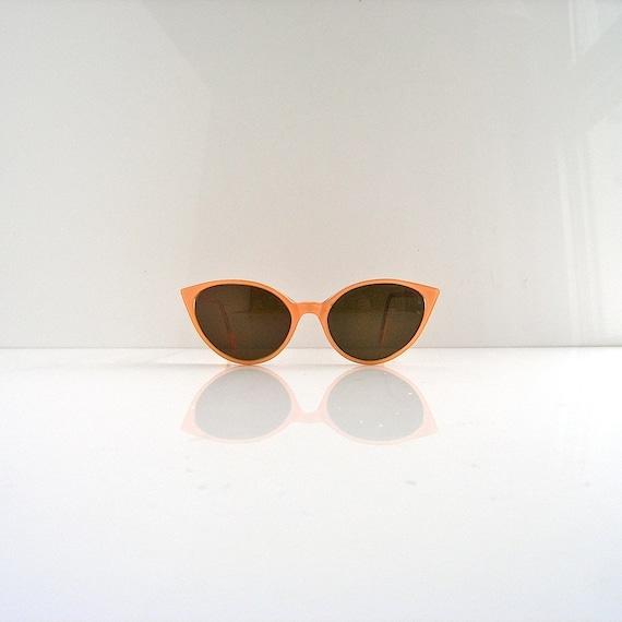 Reserved - vintage sunglasses - The Eye Company London - modern cat eye 80s bespoke - amber lens - new old stock