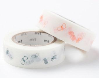 mt Washi Masking Tape - Blue or Orange Butterfly - mina perhonen