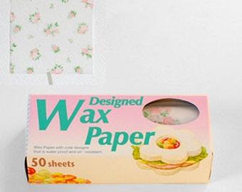 Season Wax Paper - Pink Roses - Small