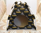 Small Handmade Pittsburg Steelers Pup Tent Pet Bed For Cats / Dogs / Ferrets / Piggies Or Used For A Toy Box / Barbie Doll House