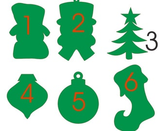 Unfinished wood wooden Christmas shapes - 17.5'' to 29'' tall