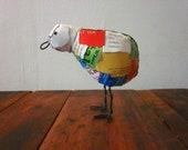 Recycled Trash Bird Sculpture