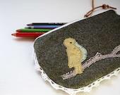 Tilly super sweet gold bird purse