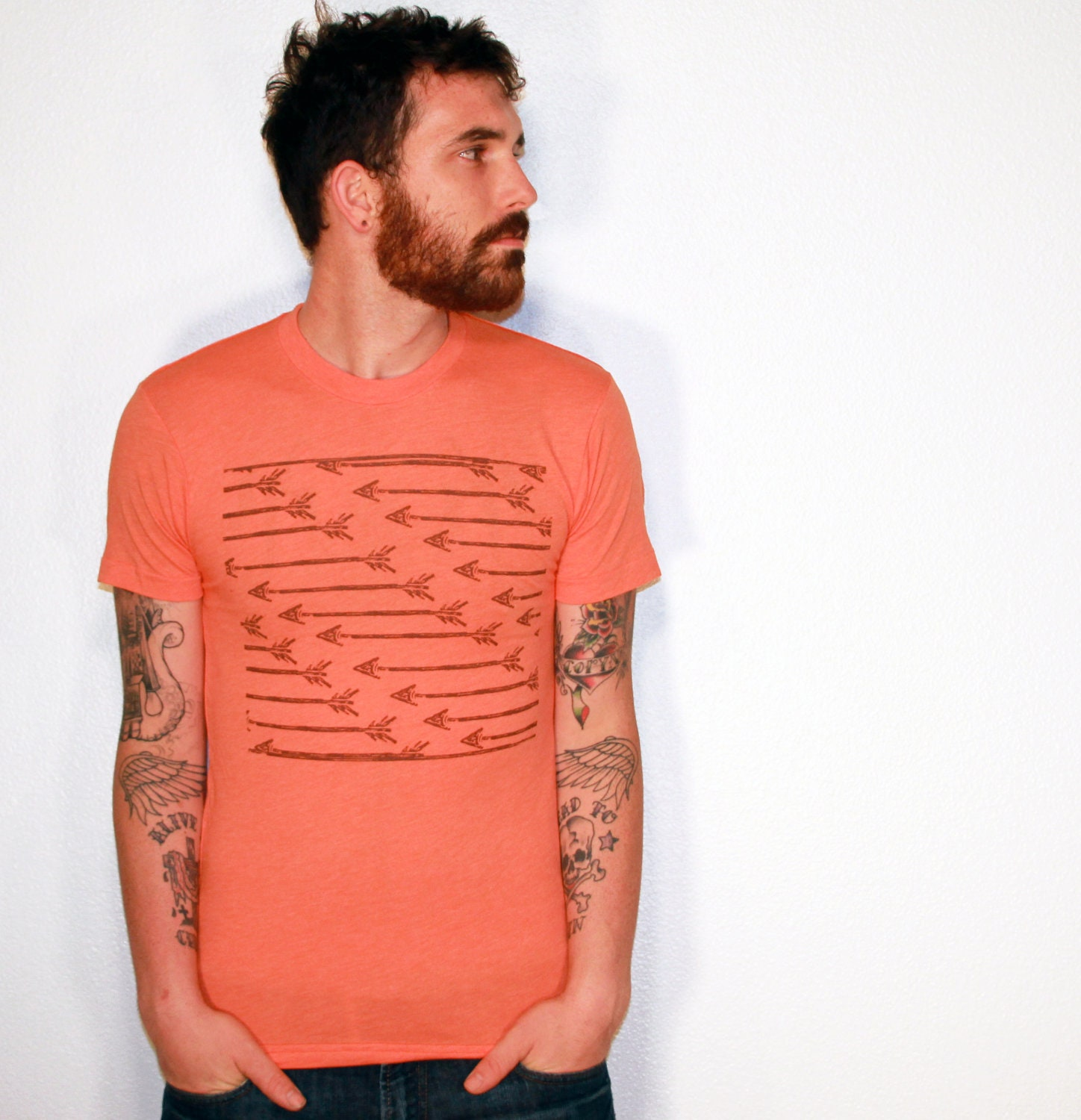 arrows pattern carving t shirt native by darkcycleclothing