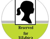 RESERVED - Set of 4 Princess Silhouettes