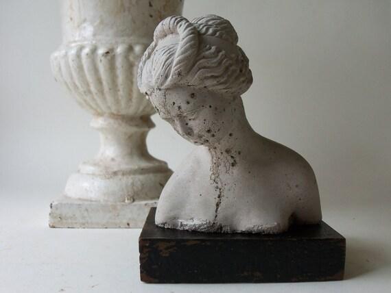 mini greco roman bather bust