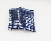 Navy Blue and White Lavender Drawer Sachets, Geometric Bedroom Decor, Cotton Gift, 2nd Wedding Anniversary