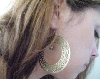 Antique Brass Copper Earrings - The Belinda Earrings