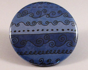 Blue waves pocket mirror