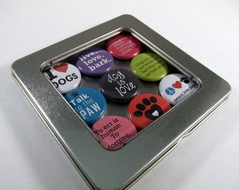 Dog Lover Magnets / Refrigerator Magnets / Locker Magnets / Ready for Gift Giving