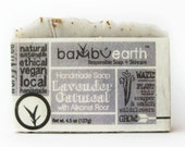 Lavender Oatmeal Soap Gift Wrapped in Plantable Paper that Grows Wildflowers Great Gift