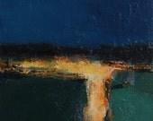 Small Box Painting 1025 - Original Oil Painting - 22.7 cm x 22.7 cm