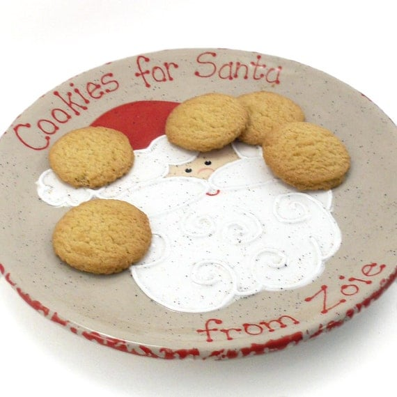 Santa Cookies for Santa Plate - Personalized Christmas Plate - Santa Treats Plate - Christmas Cookie Plate - Santa Snack Plate - made in USA