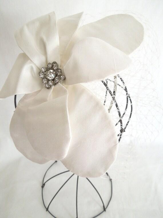Silk Dupioni Handmade Flower Headband