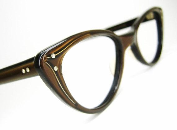 Vintage 50s Cat Eye Sunglasses eyeglasses Frame American Optical