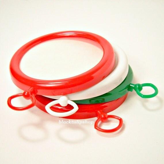Craft frames cross stitching diy handmade ornaments red green white