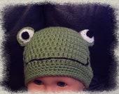 Baby Frog Hat Beanie Photo Prop Girl Boy