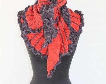 PATTERN Garter Stitch  Knitting Pattern Shawl/Scarf