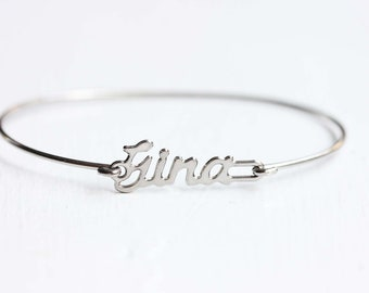 Vintage Name Bracelet - Gina