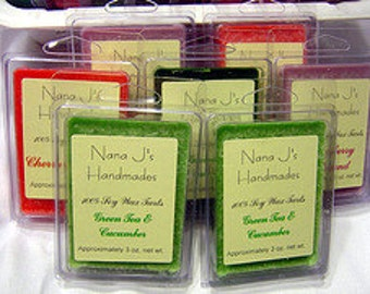 Soy wax melt-soy melt  -triple scented-clamshell.  Orange Clove.  Made by Nana J's Handmades
