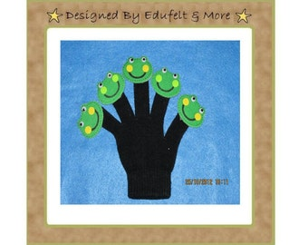 NEW - Five Green and Speckled Frogs - Finger Puppets - Teacher Resources