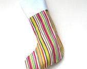 Modern Christmas Stocking - Vertical Candy Stripe - ready to ship by speedpost, delivery in 4-5 days
