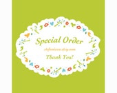 Special order for    beautifulonetn