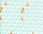 SALE - FQ Rare OOP Heather Ross Fabric - Aqua Seahorses - Mendocino - Fat Quarter