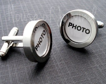 Photo Frame CUFFLINKS - Easy Peasy way to Customize Cufflink Bases