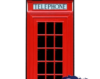 Red British Phone Booth - iPhone Cover, Case