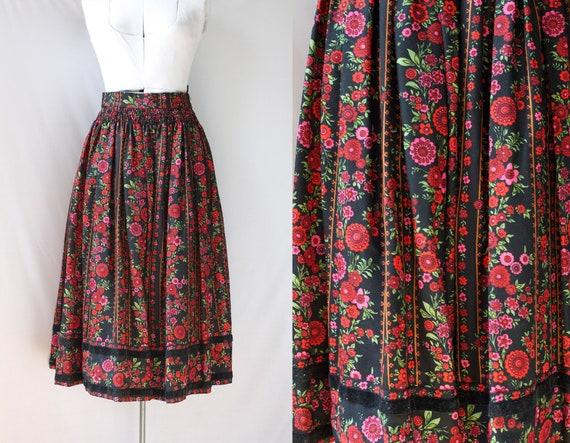 Vintage Dirndl Skirt Fall Fashion