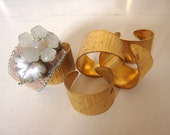 DIY Lot of 5 adjustable blanks cuff rings for bead embroidery. Free tutorial. Free WW shipping