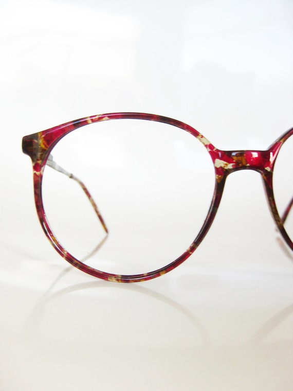 Glasses Frames Italian : Vintage OVERSIZED Italian Eyeglasses CRANBERRY by ...