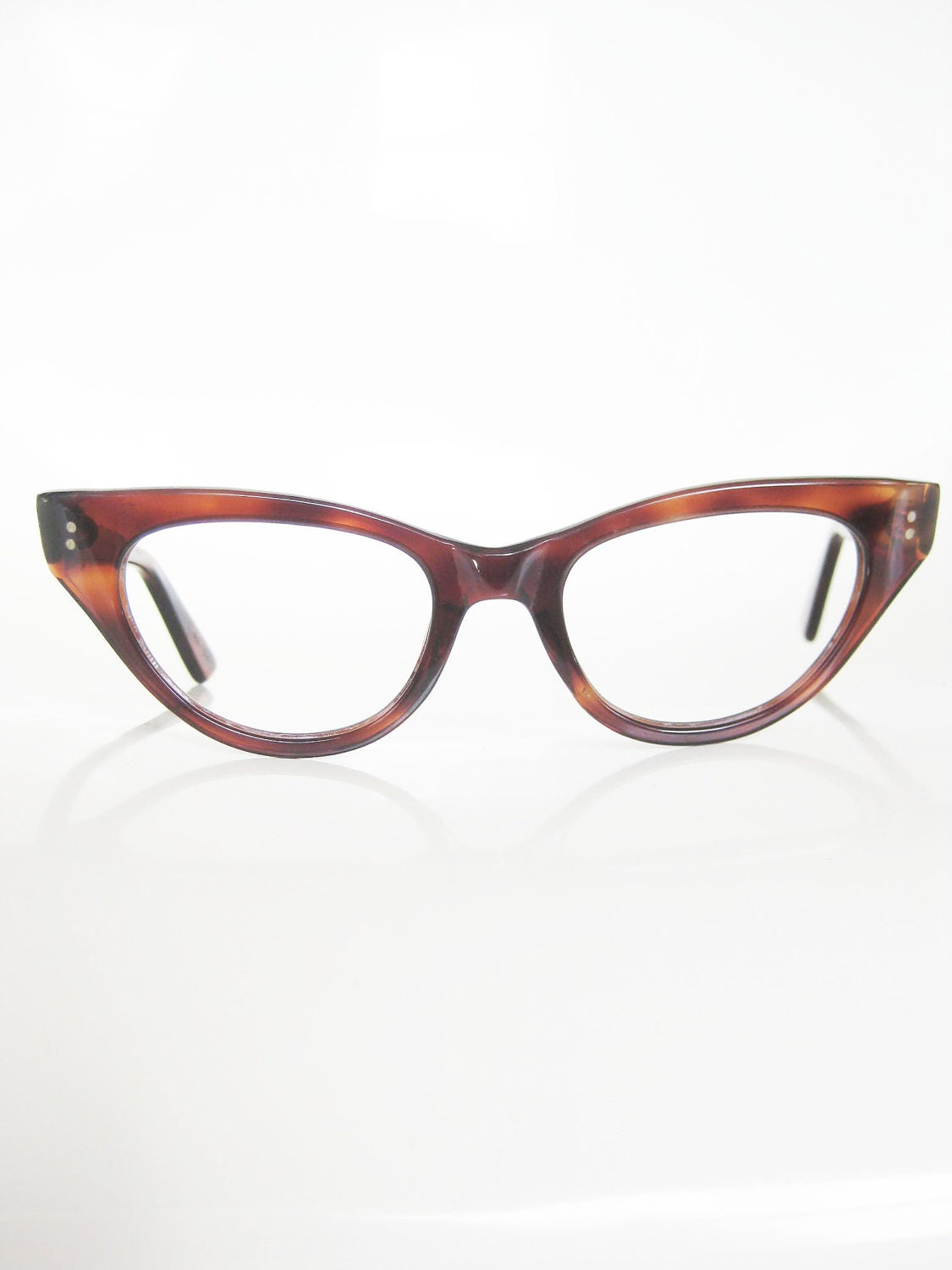 Old Glasses Frames New Lenses : Vintage Eyeglasses Cat Eye 60s French Frames 1960s Glasses