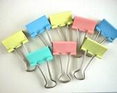 8 //// vintage metal paper clips