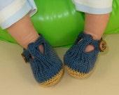 knitting pattern digital pdf download - Baby T Bar Sandals  pdf download knitting pattern