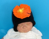 Instant Digital File pdf download knitting pattern- Baby  Flower Slouch hat  pdf download knitting pattern