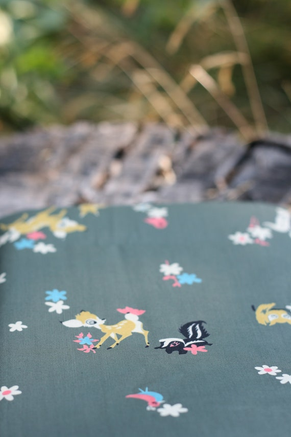 Reserved for Tiffany--Vintage Walt Disney Bambi Material Fabric