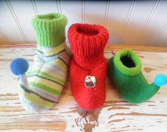 Child and Infant Elf Slippers - PDF Pattern (newborn - child size 13)